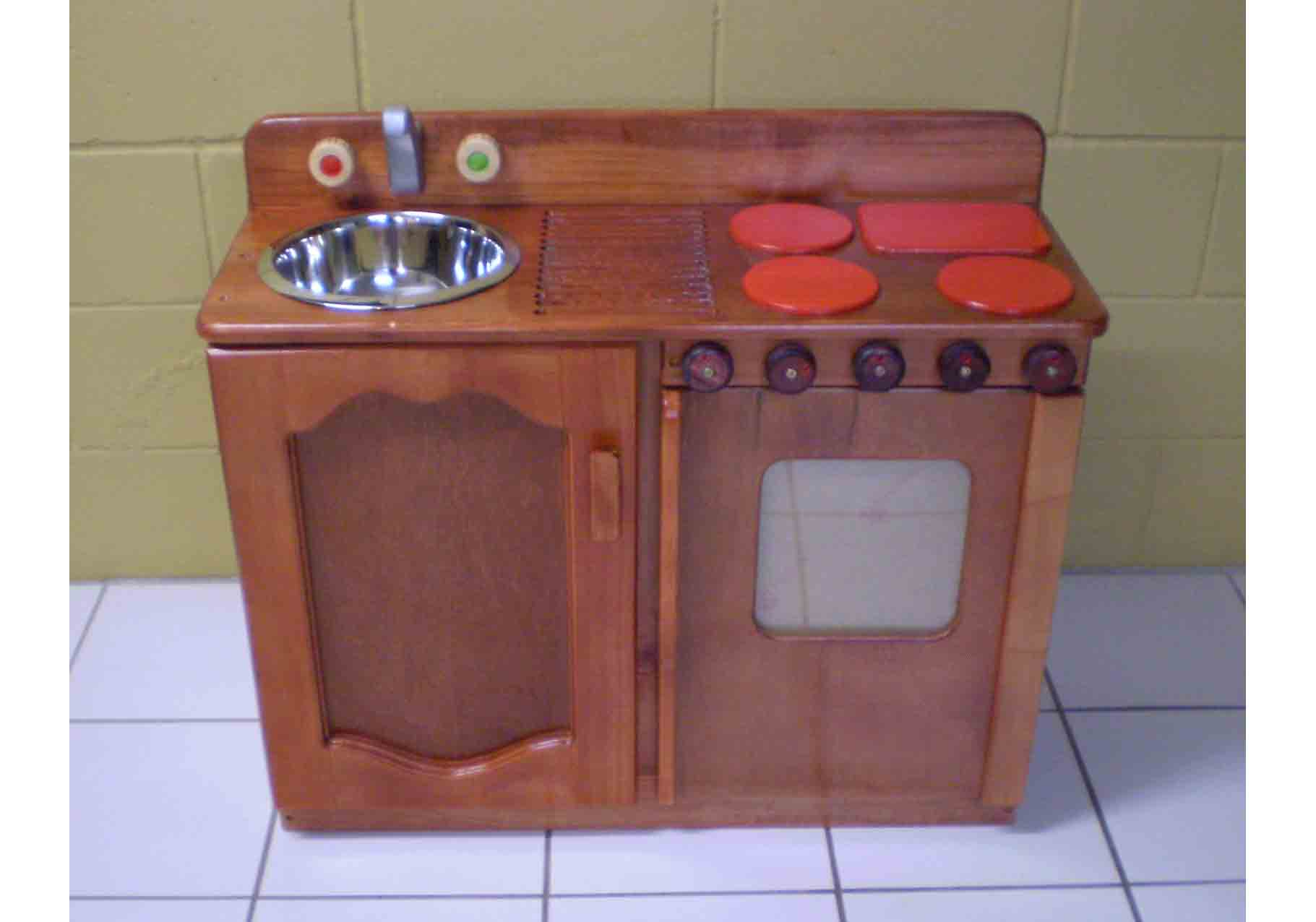 Toy Play Sink stove combination Plan