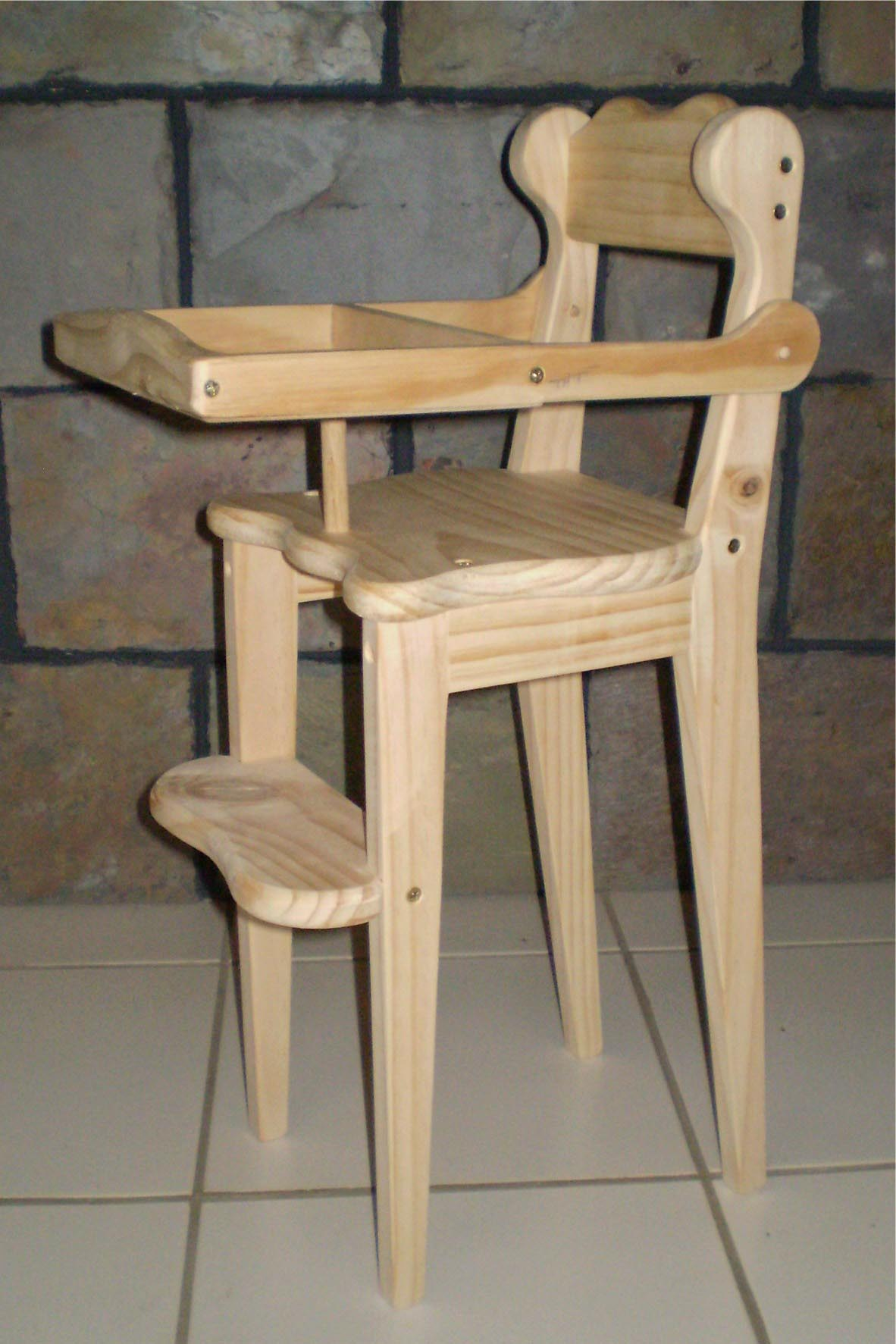 Toy High Chair plan and pattern