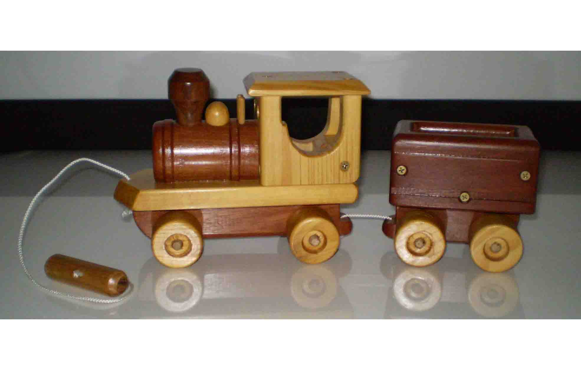 Wooden Pull Along Train plan