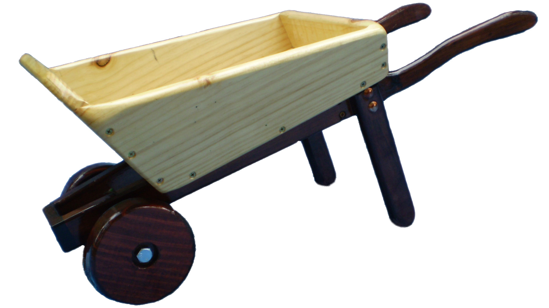Small Wooden wheelbarrowr