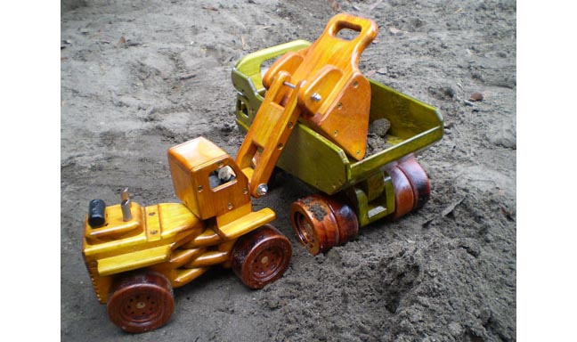 Dump truck and loader plan