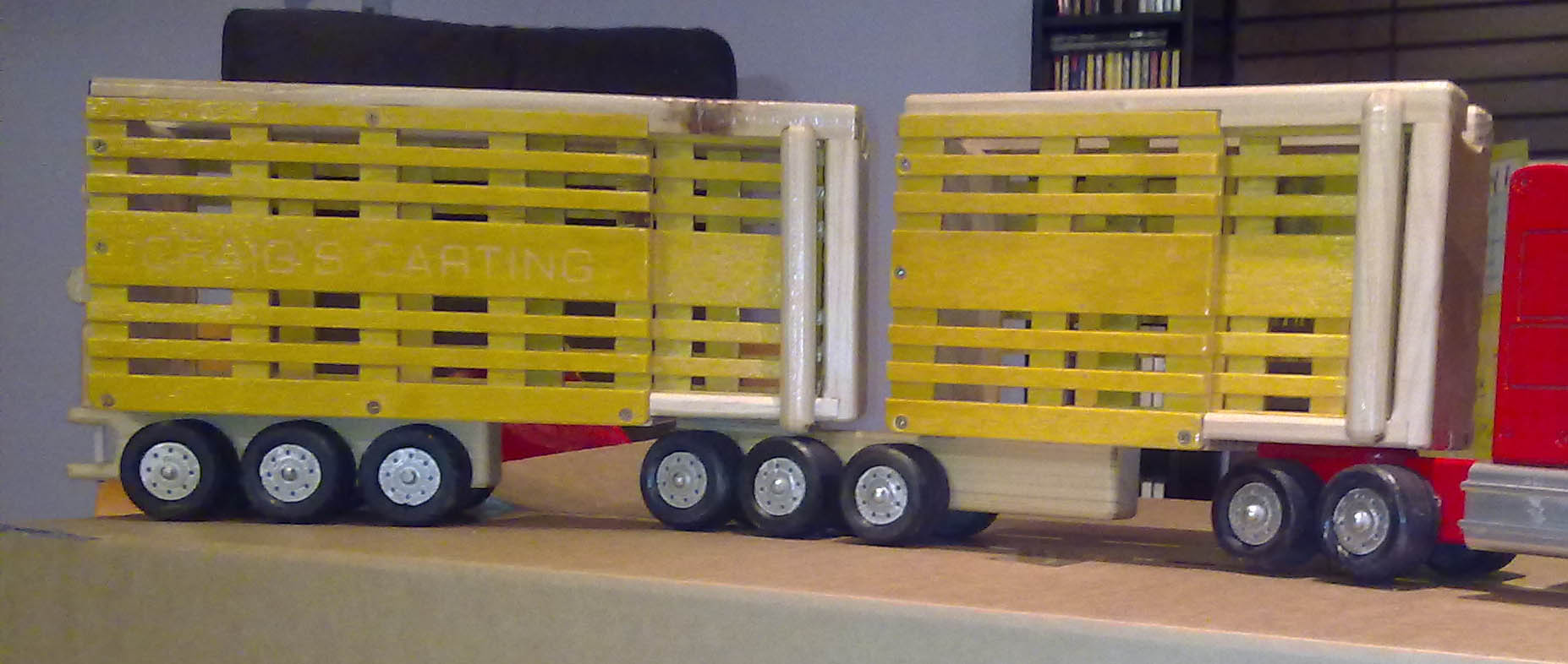 B Double cattle trailer transport plan
