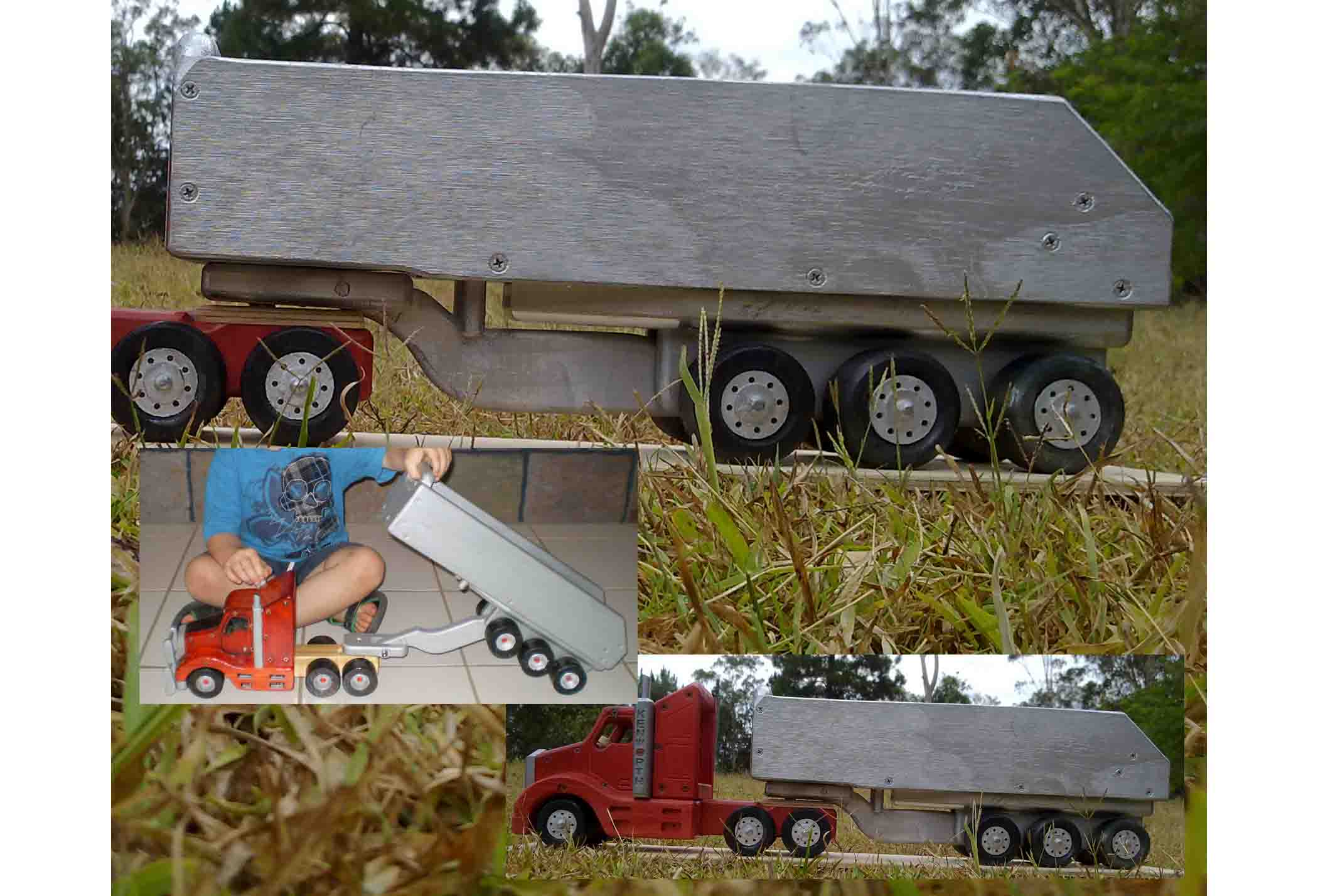 Semi tipper trailer wooden toy plan